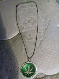 silver and green pendant necklace Bulls Gap, 37711