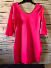 Charlotte Russe pink dress size large worn once Santa Maria