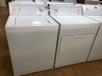 Kenmore white washer and dryer set 29 mi