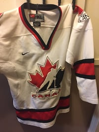 White, red, and blue jersey shirt Sherwood Park, T8H 1T8