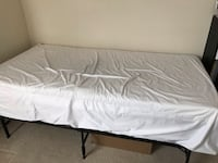 Twin Mattress with frame and bed bug cover Falls Church, 22043