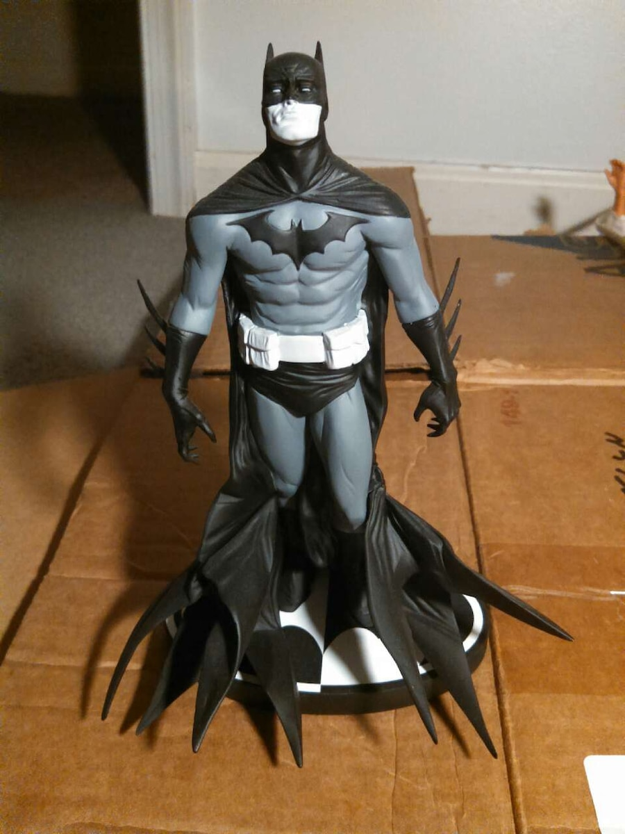 Limited Edition Black And White Batman Statue