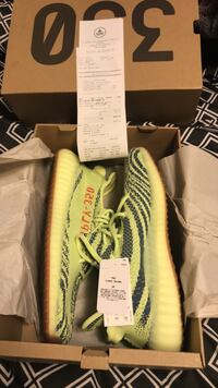 pair of gray adidas Yeezy Boost 350 v2 Stone Mountain, 30083