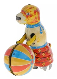 Vintage Toy Dog Push Round Ball