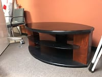 black and brown wooden TV stand Woodbridge, 22191