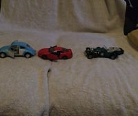 3 Die Cast Cars, Volkswagen Beetle, Ford Mustang GT, Excalibur Fairfax, 22030