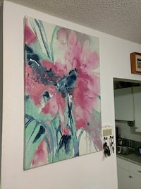 """36""""-24"""" floral painting, check out my profile"""