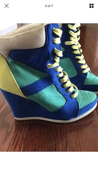 Blue-and-yellow call it spring high top sneakers Bristow, 20136