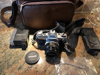 Canon AE1 Camera + Auto Thyristor Camera Flash + Leather Carry Bag Pickering, L1V 1N2