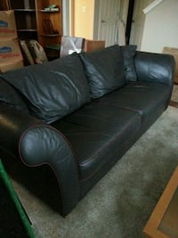 "Leather sofa, comfy , 84"" L, seats 3-4 Hillsboro, 97124"