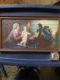 Old Framed Religious Print