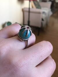 Antique Silver Turquoise Ring Real Stones Glendale, 91201