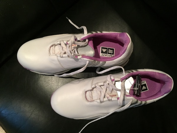 Adidas new shoes never worn, size 6 1/2. 223d75e4-af14-42b9-8951-bb29412cb398