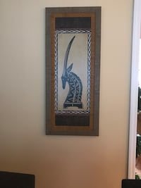 18 X 42 framed animal picture