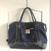 Superdry Navy blue carryall travel luggage bag