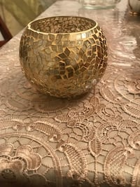 Gold mosaic candle holder Great Falls, 22066