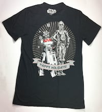 STAR WARS Black T-Shirt w/ LED Ligth Men Size M MONTREAL
