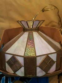 brown and white pendant lamp