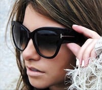 TF Black Cat Eye Sunglasses Beverly Hills