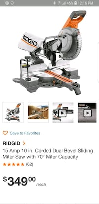 Rigid miter saw 10 inch sliding Hyattsville, 20782