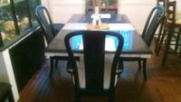 rectangular black wooden table with six chairs dining set Philadelphia, 19144