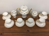 GORGEOUS GOLD LINED‼VINTAGE Coffee/Tea set - Adelina Porcelana Fine‼PRICE DROP‼ Pointe-Claire, H9R 2W5