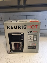 New in Box K15 Classic Single Serve Coffee Maker Washington, 20003