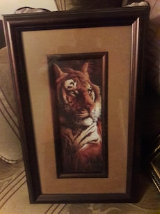 Big Cat Framed Art by Home Interiors