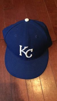 Kansas City Royals, MLB hat- size 7 1/8 Bedford, B4A 4E5