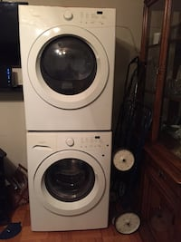 white front-load washer and dryer set Toronto, M6K 2Y9