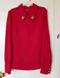 red v-neck long sleeve shirt Vaughan, L4H 2L3