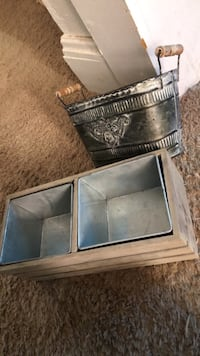 Wooden and Metal Bins