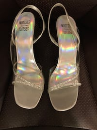 Like New silver and transparent heels Jessup, 20794