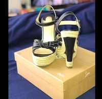 100% authentic Christian Louboutin wedges Stamford