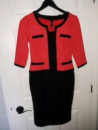 Red and Black Pencil Dress - Size M/8 St. Catharines, L2P 3N9