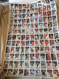 Uncut hockey card sheet