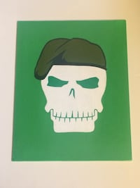 Suicide squad skull Rick flag painting