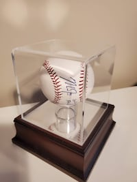 Mike Trout signed baseball.