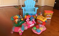 Toys(7 toys and 1 baby chair)