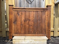 Custom Hand-made reclaimed solid wood double bed headboard Toronto, M1T 1L2