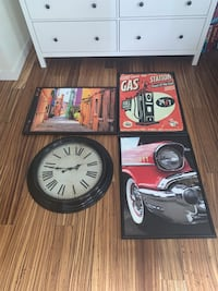 Clock and pictures