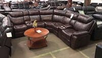 Leather Reclining Sectional  Farmers Branch, 75234
