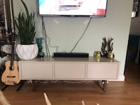 white wooden TV stand with flat screen television Arlington, 22202