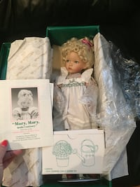 NIB Mary Mary Quite Contrary Porcelain Doll from Mother Goose Collec. Whitby, L1R 1W6