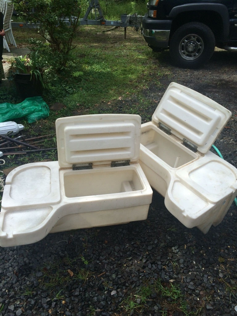 Boat Live Well And Storage Box From Pontoon Boat