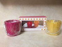 Set of 2 Wax Filled Lantern Candles.          Nice for Christmas gift Spring, 77379
