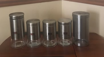 Stainless Steel & Glass Airtight Canisters