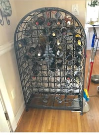 Black metal framed wine cabinet obo null, 22032
