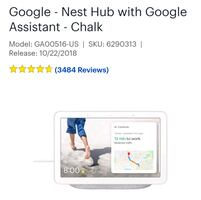 Google,  Nest Hub with Google assistant-Chalk