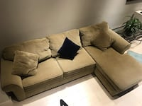 Macy's green olive sectional New York, 10003